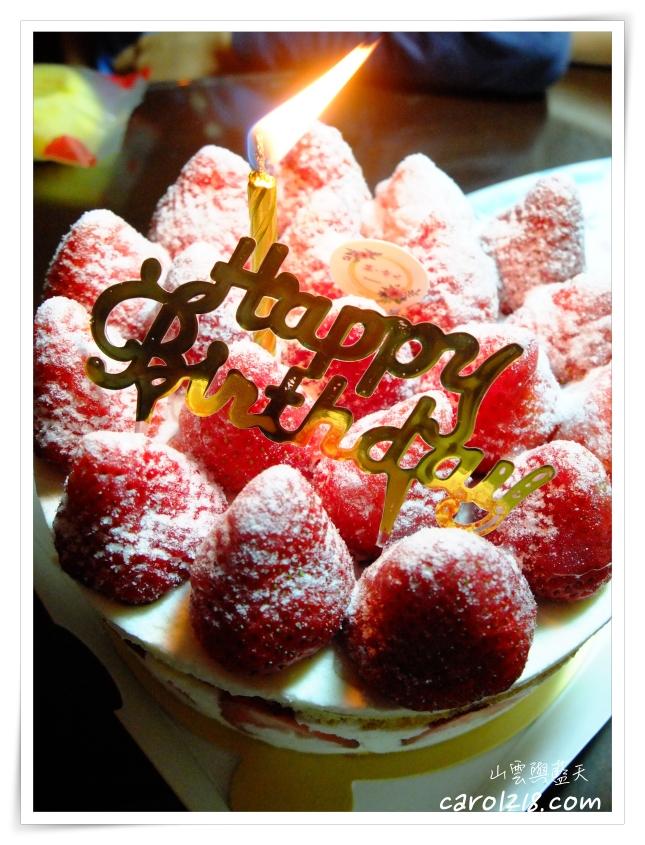 [台中生日蛋糕]菓。幸せ甜點工作室~幸福滿滿的日式草莓生日蛋糕、法式甜點塔派