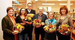 """Preisverleihung in der Lahrer Mediathek: """"Die Lahrer Murre"""". Mein Text """"Rosa Hemmli"""" gewann den 1. Preis."""