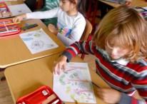 Breisach, Theresianum: Kleine Künstler am Werk