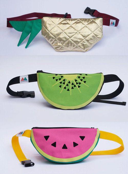 pochete formato de frutas
