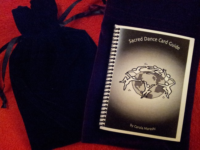 Sacred Dance Tarot Guide with 22 Card Deck and Velvet Pouch By Carola Marashi M.A.