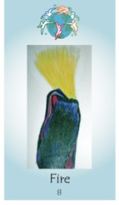 Fire Sacred Dance Card original art by Carola Marashi