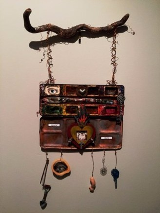 Rusty Paintbox Assemblage 2017