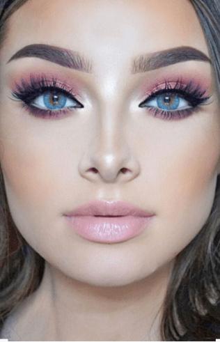 maquiagem com sombra rose gold