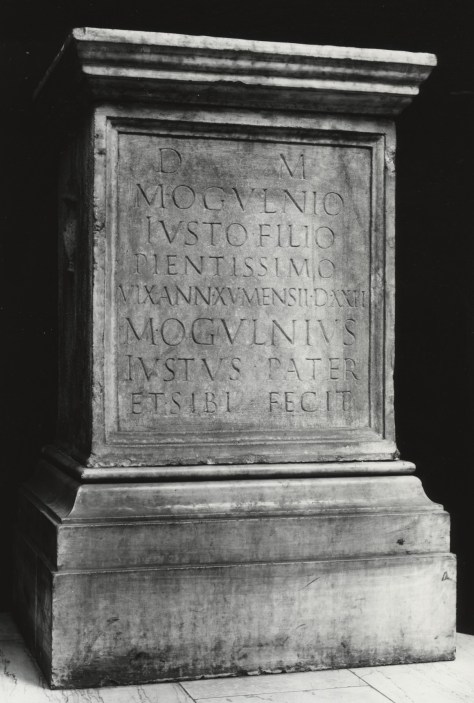 Funeral Stele of Marcus Ogulnius Justus