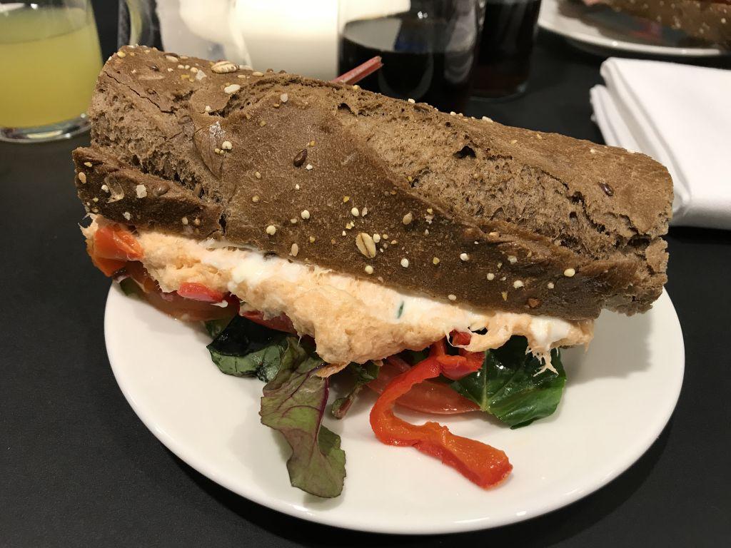 smörgås med lax