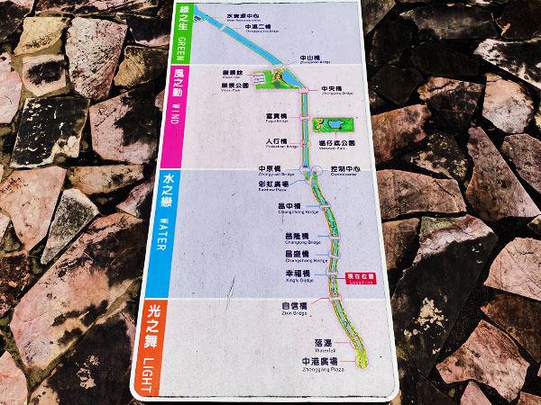中港大排親水步道地圖
