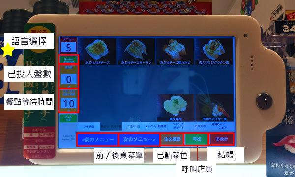那霸藏壽司點餐機
