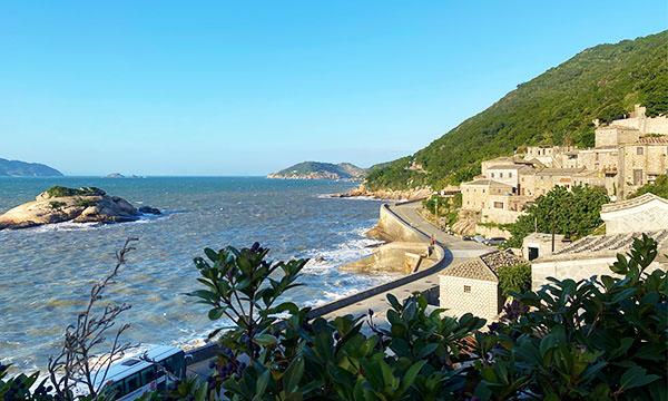 芹壁村景色與龜島