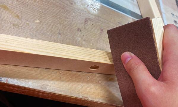 木材要用砂紙磨順