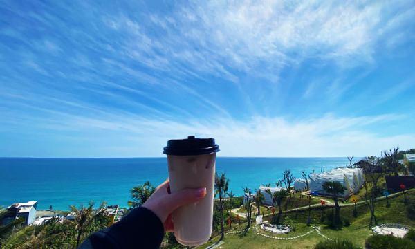 海崖谷的鮮奶茶與風景