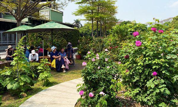 臺北玫瑰園 休息區