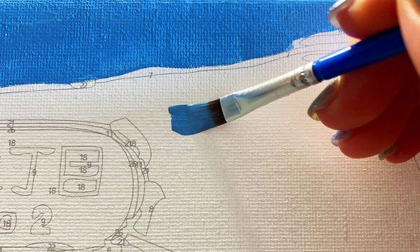 數字油畫過程