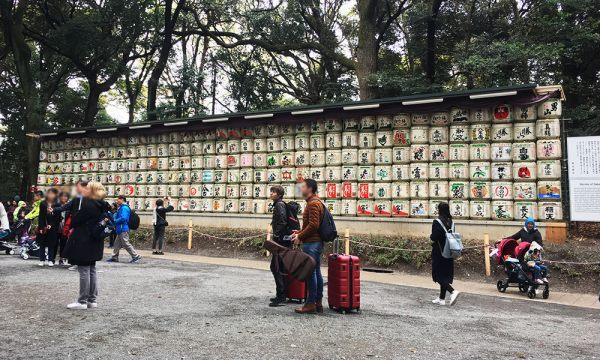 明治神宮 酒樽牆