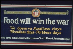 WWI - Food Will Win The War - Poster