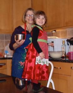 Making waffles on Christmas Eve.