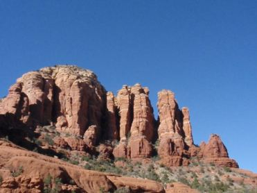 Red rocks reveal history of millions of years.