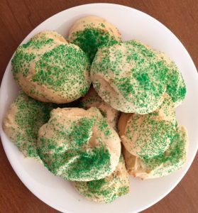 Shirley's sugar cookies - appropriate for St. Patrick's Day and I Grew Up Country Day.