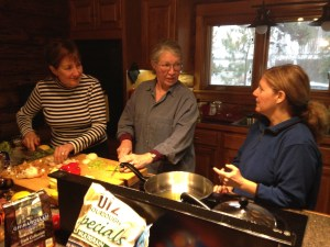 Cooking together deepens the writing experience.