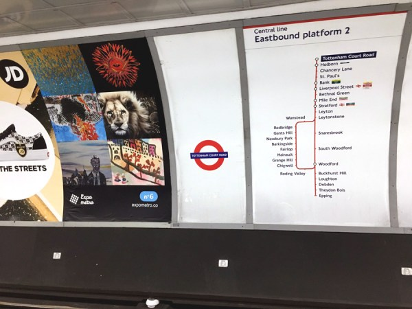 image of map of London Underground Central Line