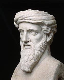 Ancient Greek Sculpture Bust of Pythagoras