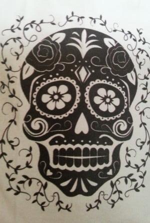 skull bw