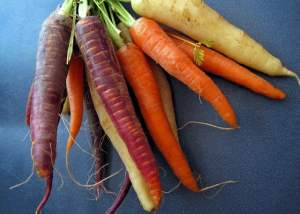 Herbed rainbow carrots