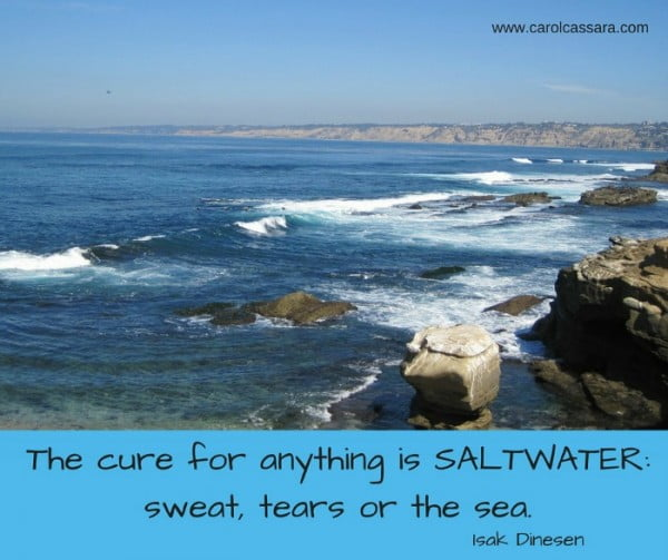 The cure for anything is SALTWATER_sweat, tears or the sea.