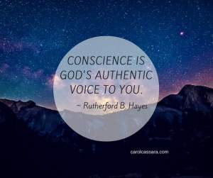 Seeking conscience