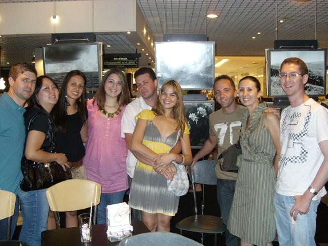 Gessiel, Andréa, Marisa, Carol, Cassiano, Lucianna, Eduardo, Sascha e Letti