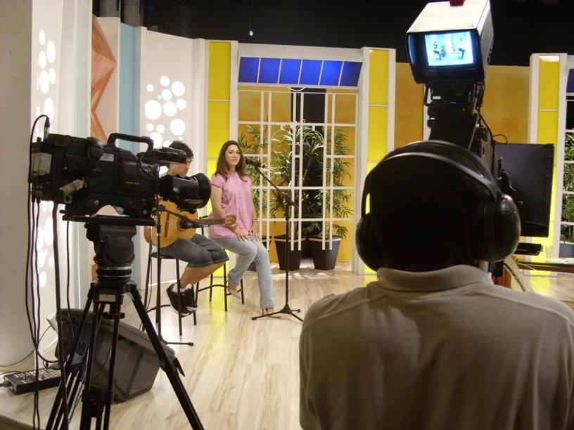 Durante a gravação
