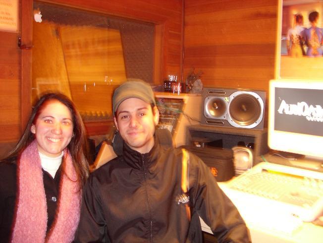 Carol e Gil no Audio Ataque Estúdio