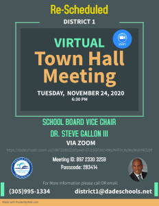 Town Hall Meeting @ ZOOM