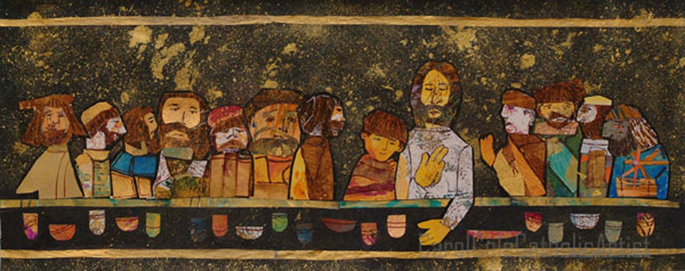 last supper carol cole catholic artist