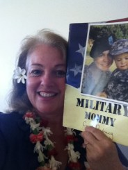 Carol shared story of Military Mommy, her daughter who is now a captain in the US Army. The little boy on the cover is now eight years old and would be joining them at the library event. His mom was presently deployed.