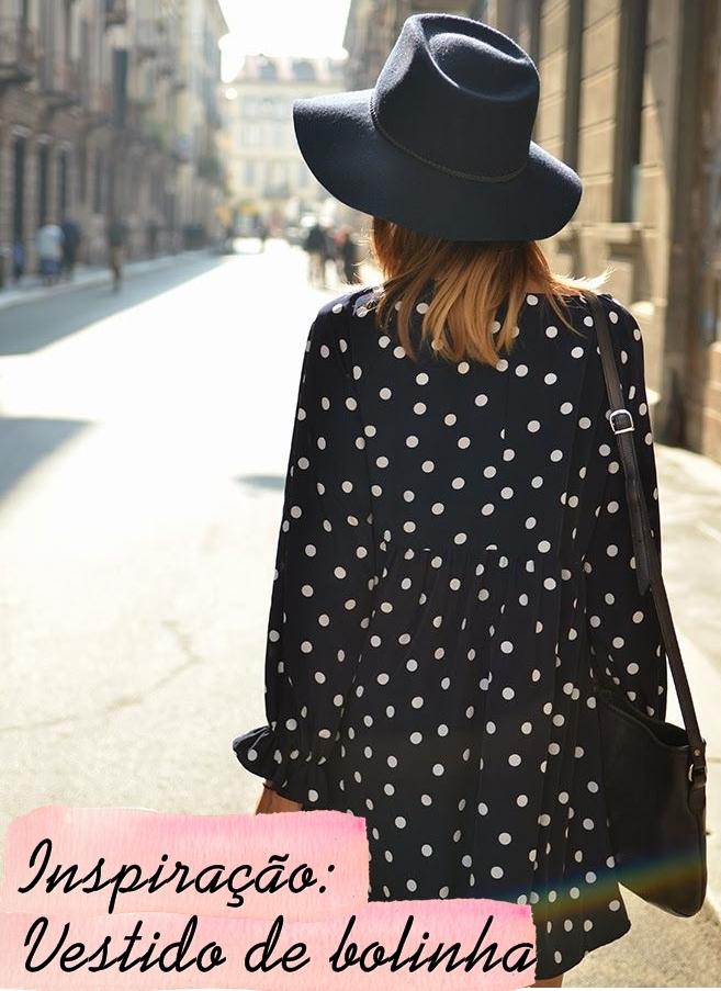 vestido bolinha polka dot dress