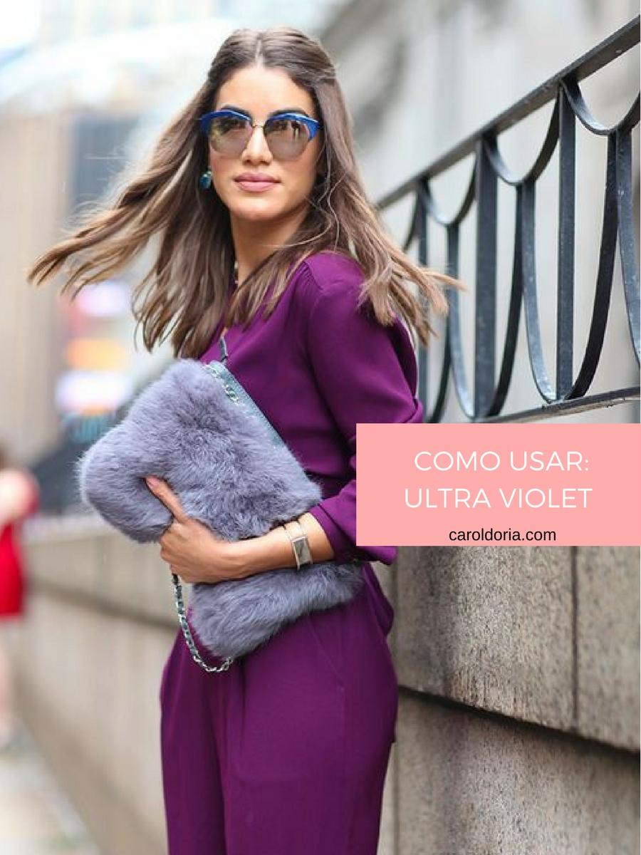 Como Usar: Ultra Violet, a cor de 2018 - Carol Doria