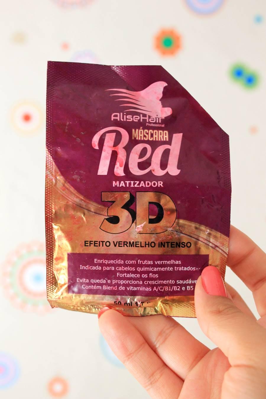 Resenha: Máscara Matizado Red 3D Marsala da Alise Hair - Carol Doria