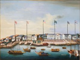 Canton_1820_Painting of the thirteen factories_C.1820_1280px-Hongs_at_Canton