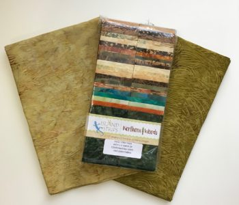 Northern Woods Strips bundle and two coordinating colors, 1.5 yards each