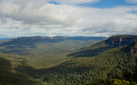 First view of the day, from Katoomba.