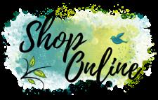 Shop Online decorative button