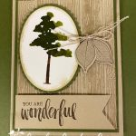 Rooted in Nature stampinup watercolor technique