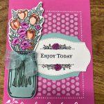 Jar of Flowers: Enjoy Today Card