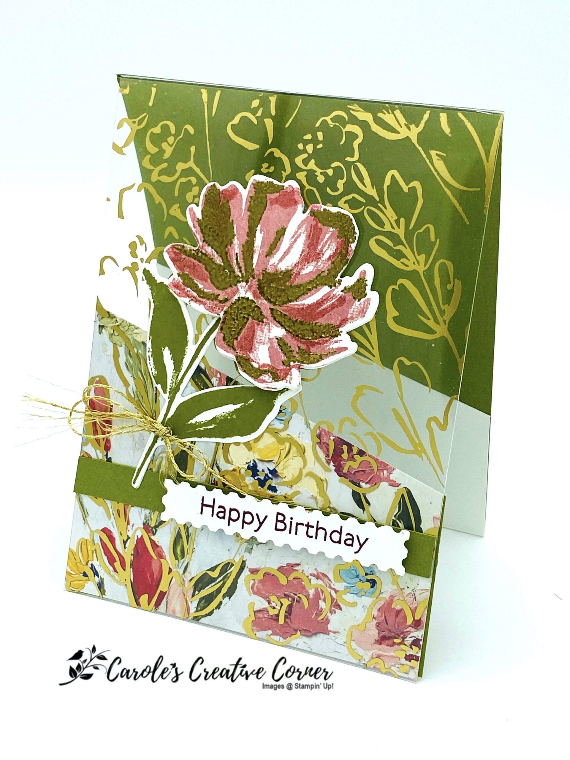 Art Gallery Golden Garden Acetate Card