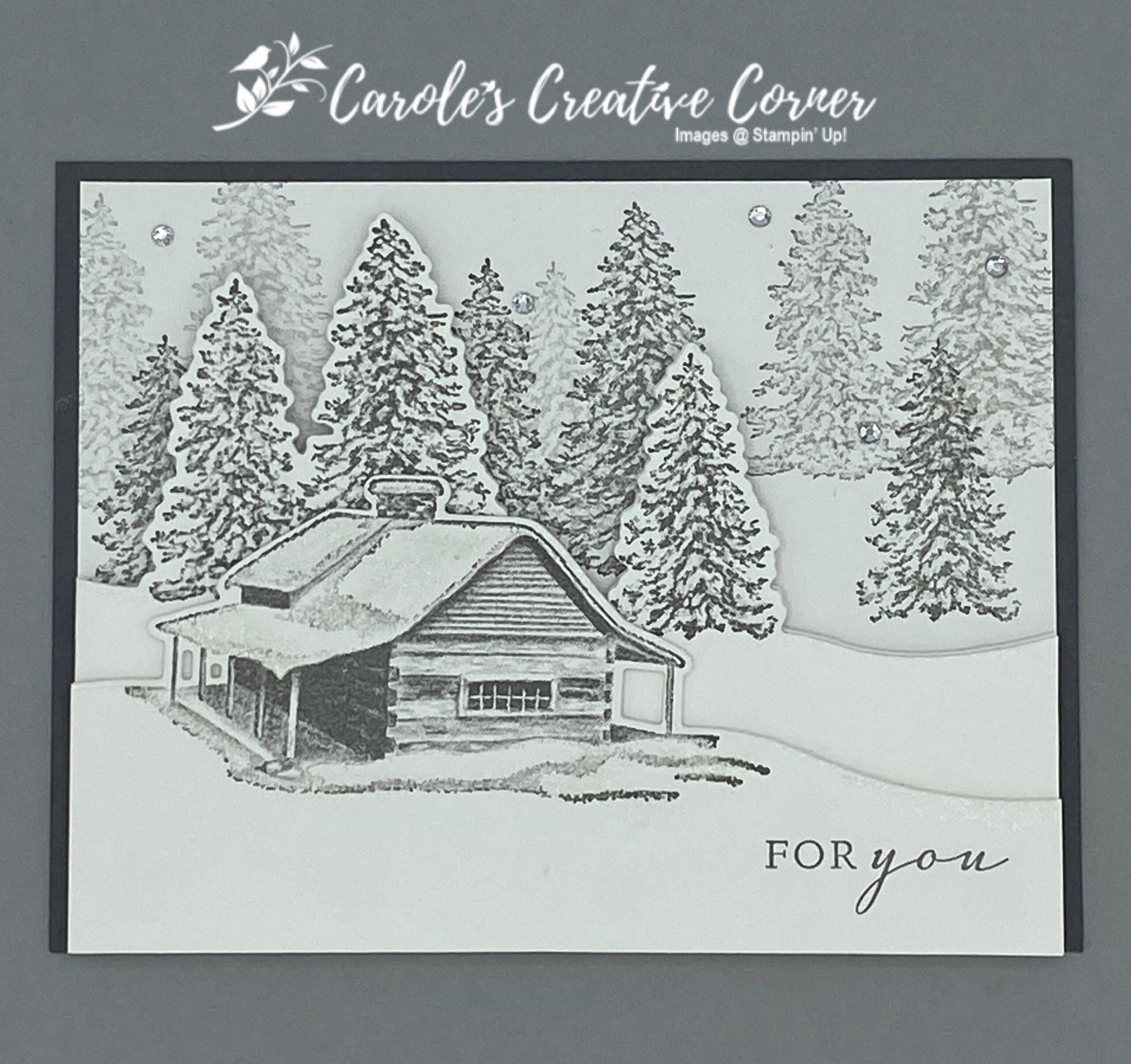 Peaceful Cabin Winter Card