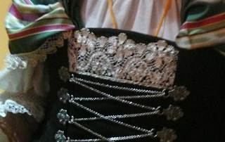 Belgian folk dress detail