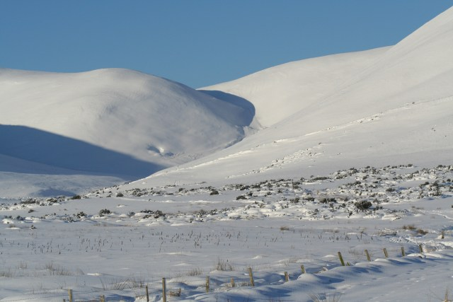 Snow in the Pentland Hills, Scotland