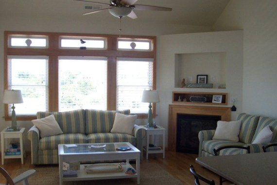 Custom interior design living room in OBX home
