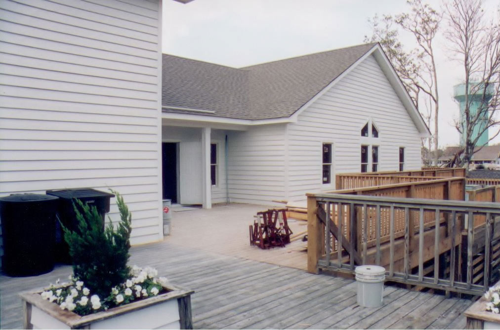 Duck United Methodist Church deck construction